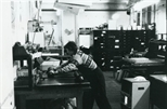 Photograph: Elspeth Roberts in Ingram Street Workshop