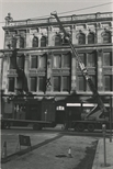 Photograph: Press being moved from Ingram Street (1987)