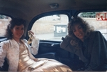 Photograph: Elspeth Lamb and friend on the way to The Loveliest Night of the Year (1987)