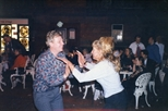 Photograph: Douglas Thomson and Jacki Parry at The Ugliest Night of the Year (1987)