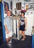 Photograph: John and Sue at Self Help Graphics, East L.A.