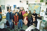Photograph: Print Studio staff with visiting artists