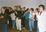 Photograph: Party in John and Sue MacKechnie's house