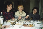 Photograph: Moscow Artists at dinner