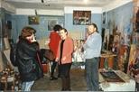 Photograph: Oksana with 'Underground Artists', Moscow 1991