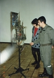 Photograph: John MacKechnie and Boris Belsky in the House of Artists, Moscow 1991