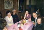 Photograph: Dinner for Glasgow Print Studio staff at an Art Fair