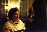 Photograph: Woman at Ursula Jakob exhibition opening