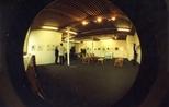 Photograph: Fish Eye Lens image of Ursula Jakob exhibition opening