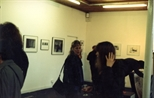 Photograph: Jacki Parry at the Ursula Jakob exhibition opening